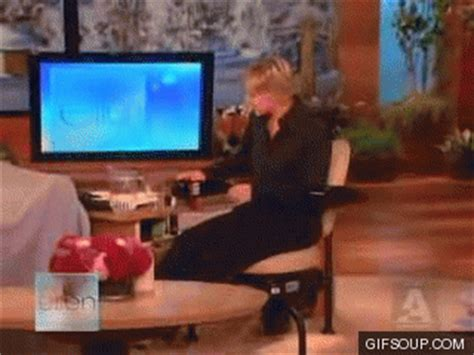 Degeneres Exercise Chair by Gifs Find On Giphy