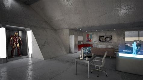 tony stark house interior tony stark s garage mechanic shop pinterest best men cave iron and garage