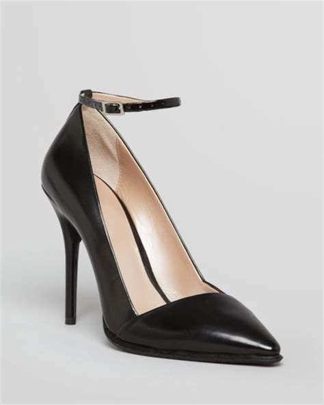 black pointed toe high heels dkny pointed toe pumps saffi ankle high heel in