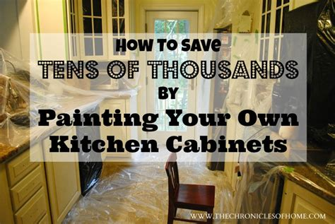 paint your own kitchen cabinets the chronicles of home how to paint your own kitchen cabinets