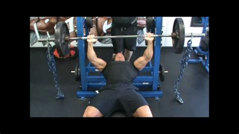 chain bench press chain bench press youtube