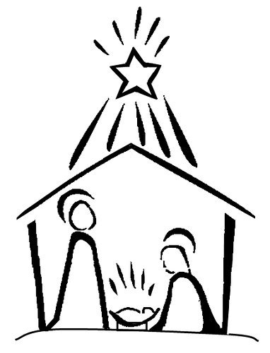line drawing christmas clip art nativity line drawing will humes flickr