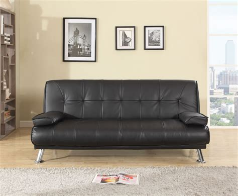 rory couch rory black faux leather sofa bed