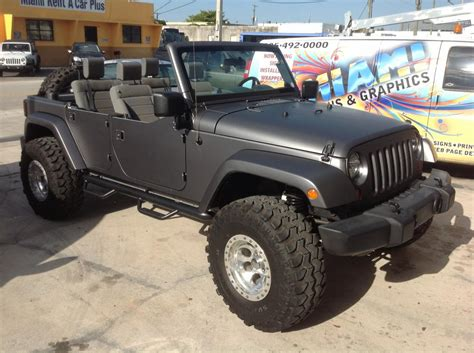 Jeep Miami Jeep Matte Black Wrap From Miami Signs And Graphics