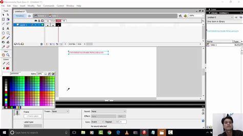 cara membuat video animasi dengan macromedia flash cara membuat animasi teks dengan macromedia flash youtube
