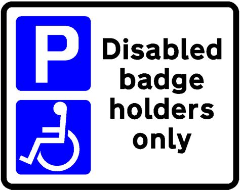 Disabled Parking Template by Printable Handicap Parking Signs Cliparts Co