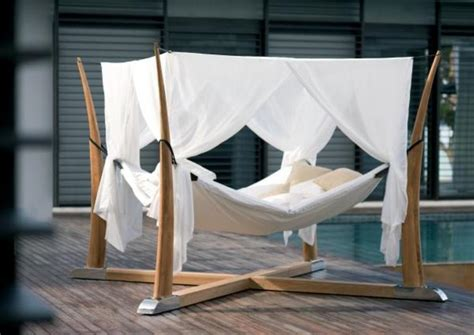 cocoon bed outdoor bed for relaxation with a cocoon digsdigs