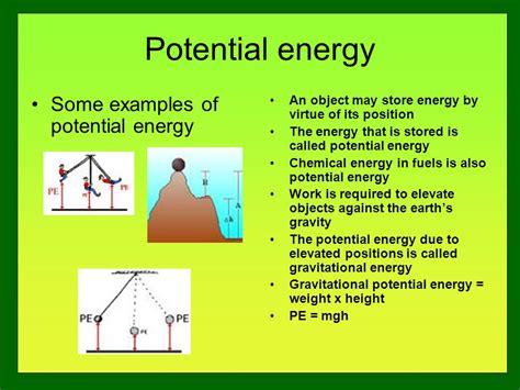 exle of gravitational potential energy energy basics ppt