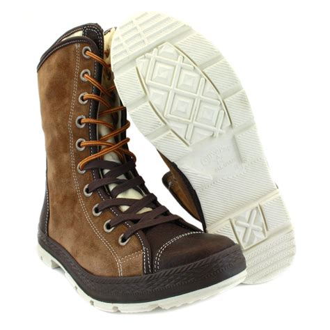 converse boot mens leather suede boots brown ebay