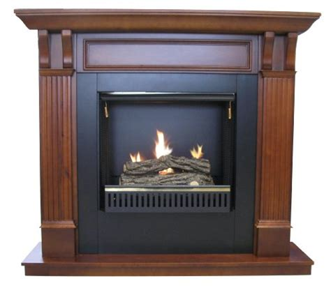 active gel fuel fireplace with cherry mantel gel