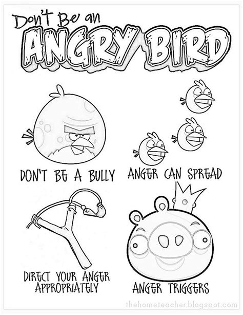 Coping Skills Coloring Pages coloring page don t be an angry bird my classroom coloring pages coloring