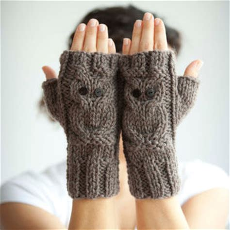 owl fingerless gloves knitting pattern shop owl fingerless gloves on wanelo
