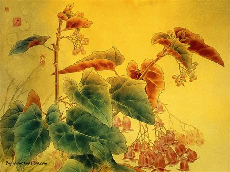 zou painting paintings gongbi paintings flower and