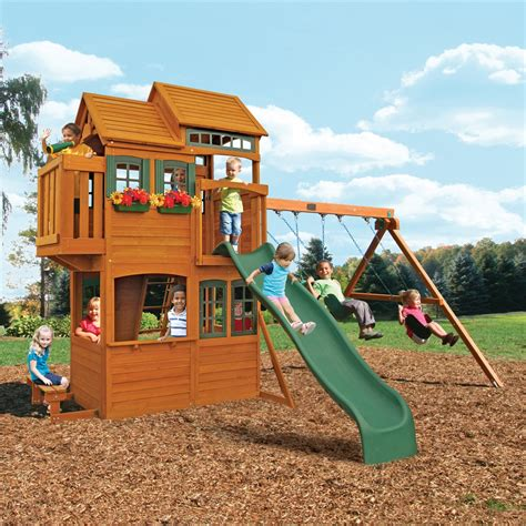 big backyard wooden playsets big backyard f23165 somerset lodge play set atg stores