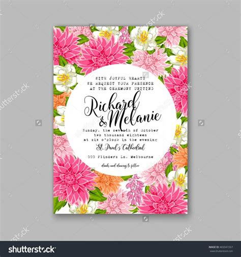 Invitation Letter Pattern Wedding Invitation Or Card With Tropical Floral Background Greeting Postcard In Grunge Retro
