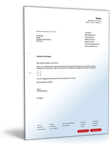 Musterbrief Bestimmte Anfrage Bitte An Finanzamt Zusendung Unterlagen Formularen