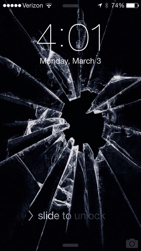 broken screen wallpapers prank  apple iphone