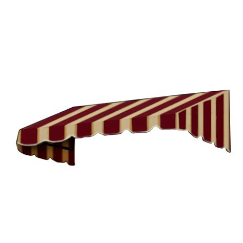 18 foot awning awntech 5 ft new yorker window entry awning 18 in h x 36 in d in burgundy tan