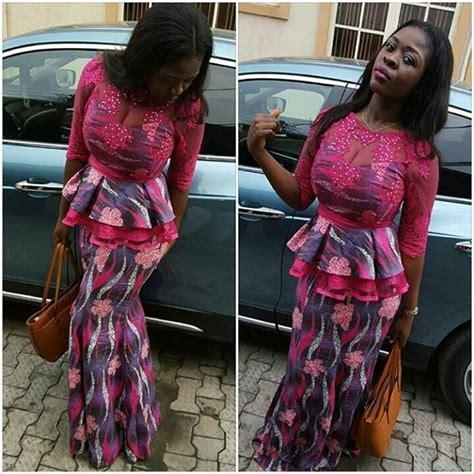 photo of nigeria lace skirt and blouse ankara skirt and blouse style http www dezangozone com
