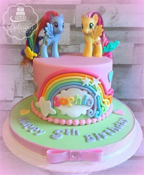 Pony Birthday Cake my pony cake ideas rainbow dash fluttershy cake www deliciousbylinzi co uk twilight