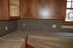Install Kitchen Tile Backsplash Interior Simple Design Glass Subway Tile Backsplash Install Glass And Oak Wood Kitchen