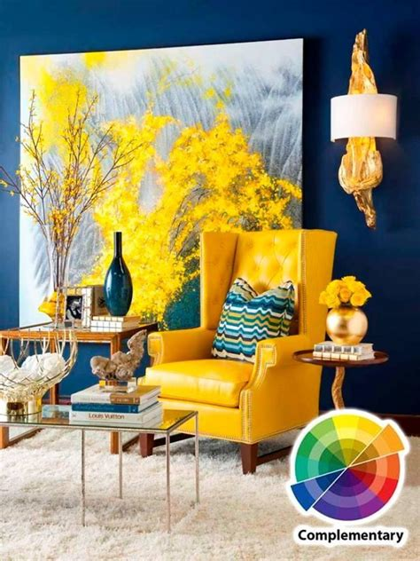 blue and yellow decor living room colour scheme in exquistie 23 design ideas