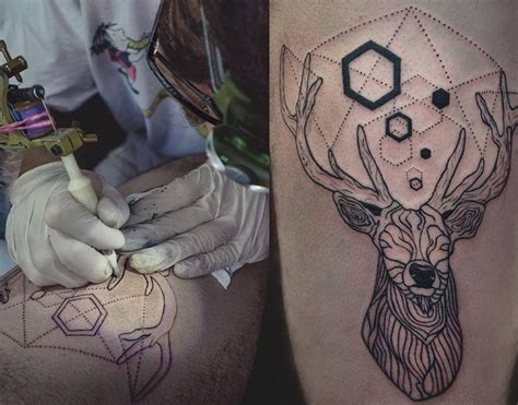 pattern tattoo art deer tattoo by facu ontivero design of tattoosdesign of
