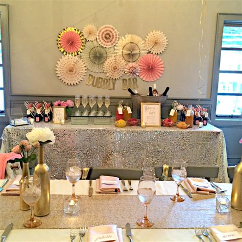 bridal shower bachelorette ideas pink and gold bridal shower trueblu bridesmaid resource for bridal shower and