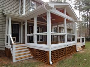 Screened In Deck Planning Ideas Porch Deck Screening Steps For