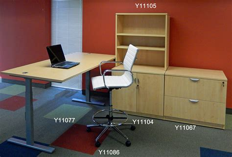 office desks that raise and lower 71 quot x 41 quot bow front raiseup electric lift height
