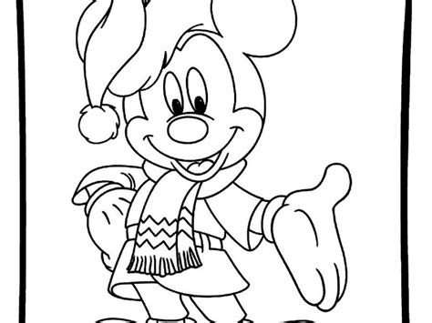 drawn christmas mickey mouse pencil and in color drawn
