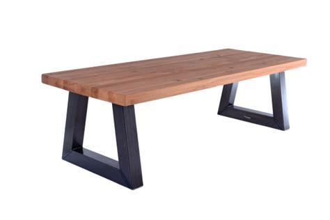 tafel in hout maken eettafel met stalen onderstel en massief hout maken
