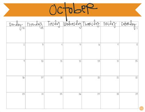 printable calendar for october october 2016 calendar free printable live craft eat