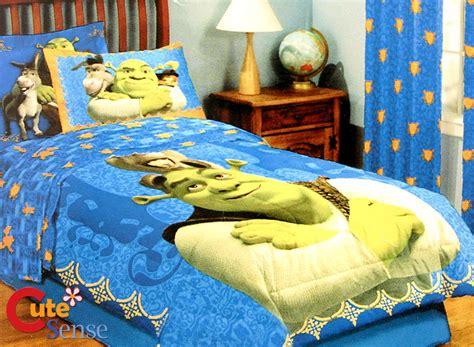 Duvet Cover Sets Full Shrek Twin Bedding Comforter Set W Donkey Amp Cat 7pc Ebay