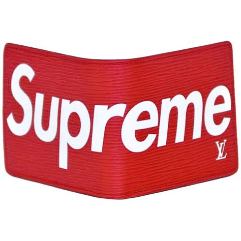 Dompet Supreme X Lv Original louis vuitton x supreme slender epi wallet new at 1stdibs