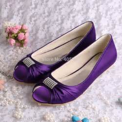purple flat wedding shoes collections ballerina flat bridal