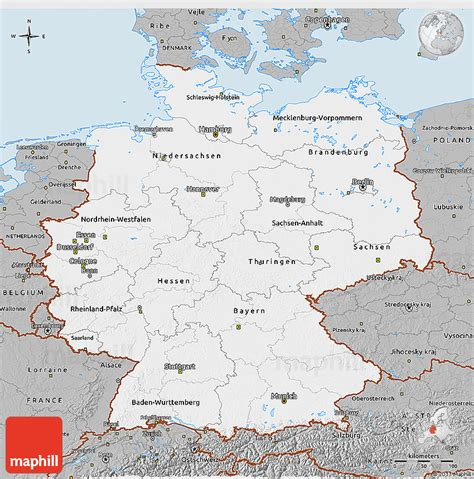 east germany map gray 3d map of germany