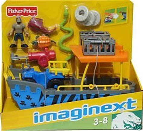 imaginext boat imaginext safari boat and atv blue toys games