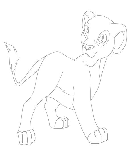young simba and nala coloring pages