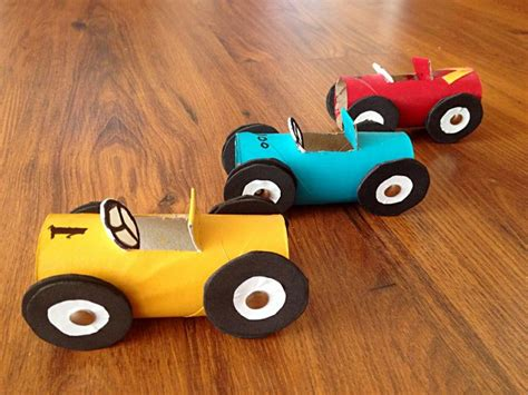 Toilet Paper Roll Car Craft - kid s craft toilet paper roll race cars craft