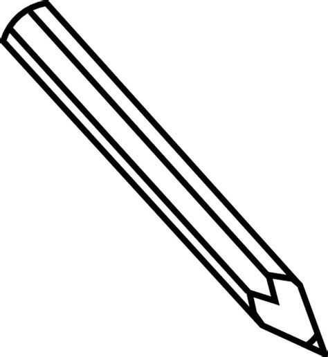 pencil coloring page big and small pencil gianfreda net