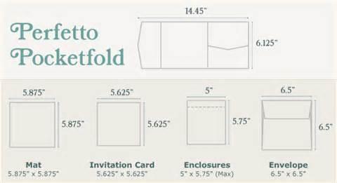 pocket fold envelope template perfetto pocketfold sizing wedding invitations