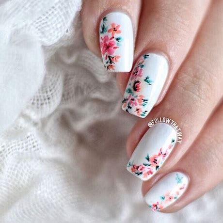 fiore nail fiore bianco nail