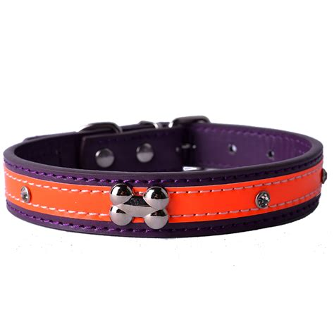 studded leather collars personalized studded reflective collar pu leather collars for dogs