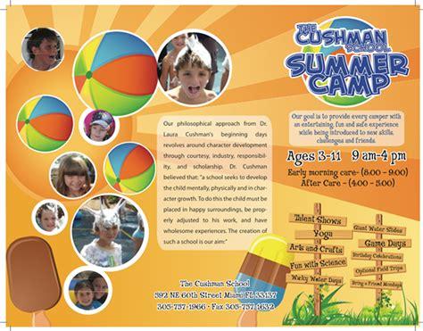 summer c brochure template the cushman school summer c branding on behance