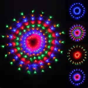 160 colour led chasing circular web window curtain net