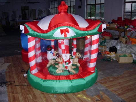 xmas decorations inflatables merry go round rotate buy