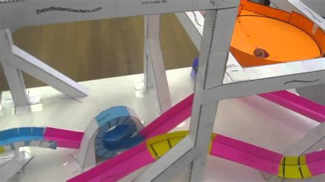 How To Make A Paper Roller Coaster Track - threat paper roller coaster