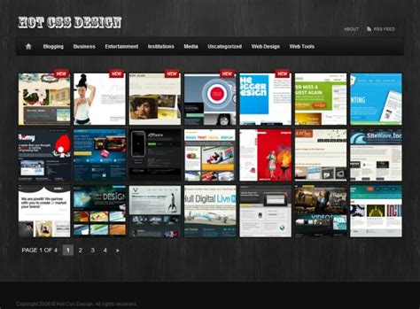 html layout gallery hot css design web galleries css showcase gallery