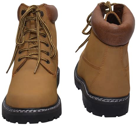 Cowhide Leather Shoes - boots lace up genuine cowhide leather shoes color middle
